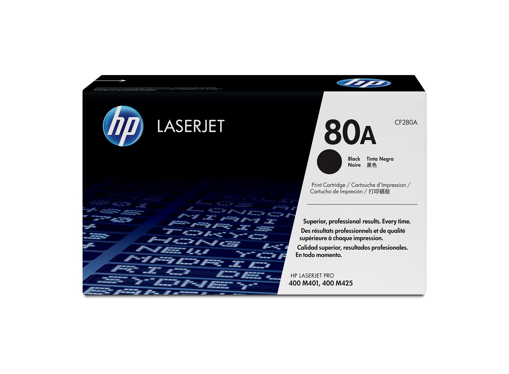 HP 80A Black Original LaserJet Toner Cartridge CF280A